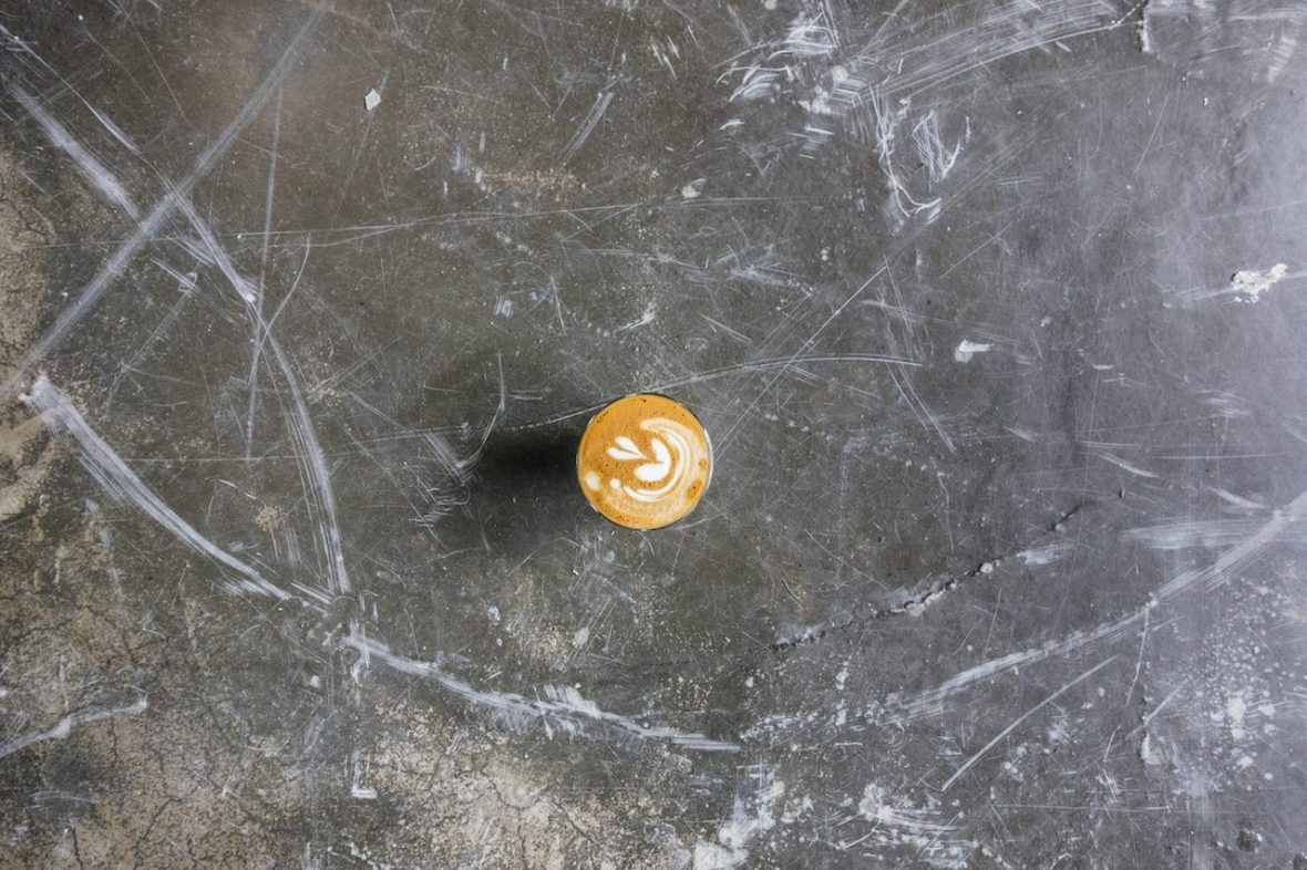 Coffee Collectif marble table